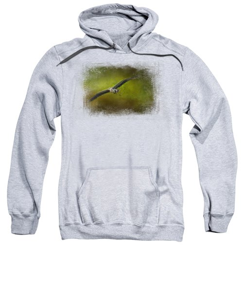 Great Blue Heron In The Grove Sweatshirt by Jai Johnson
