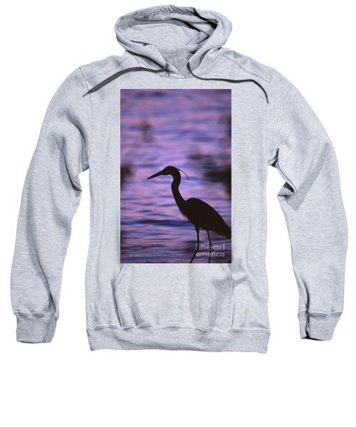 Great Blue Heron Photo Sweatshirt