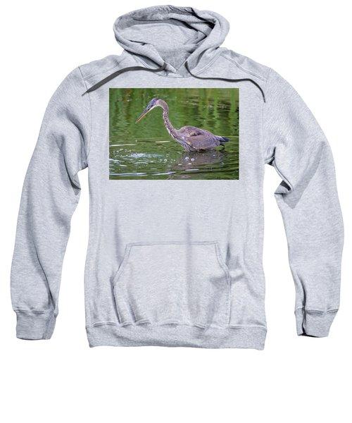 Great Blue Heron - The One That Got Away Sweatshirt