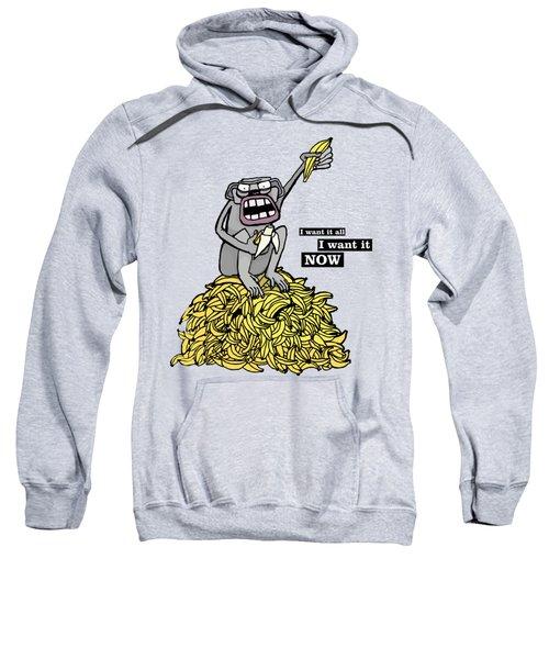Greedy Monkey Sweatshirt by Agata Lisiecka