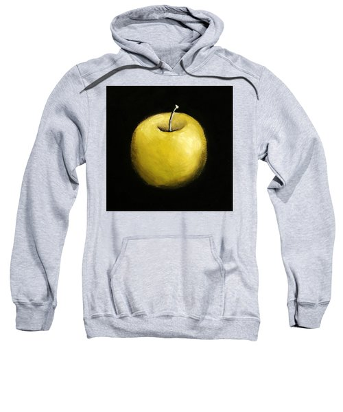 Sweatshirt featuring the painting Green Apple Still Life 2.0 by Michelle Calkins