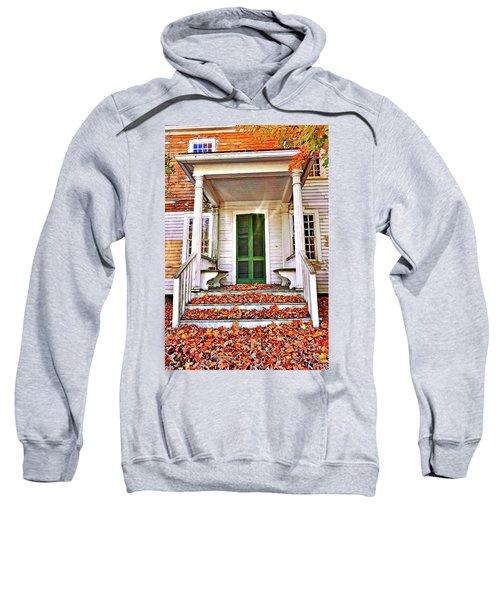 Green Autumn Door Sweatshirt