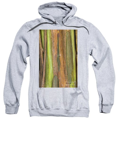 Sweatshirt featuring the photograph Green Bark 3 by Werner Padarin