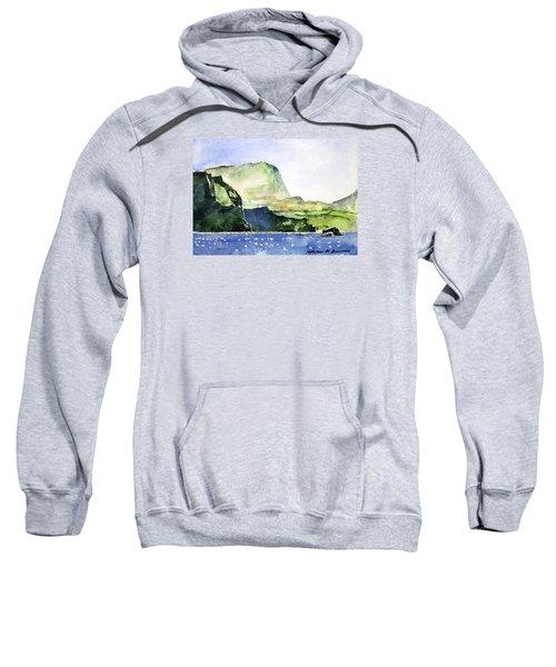 Green Cliffs And Sea Sweatshirt