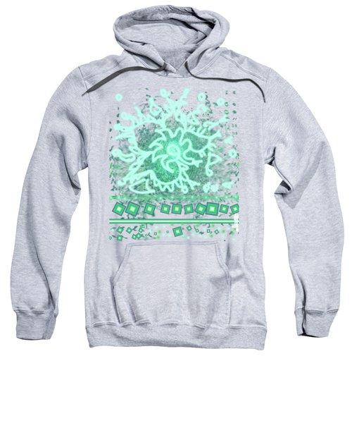 Green Floral Design Sweatshirt