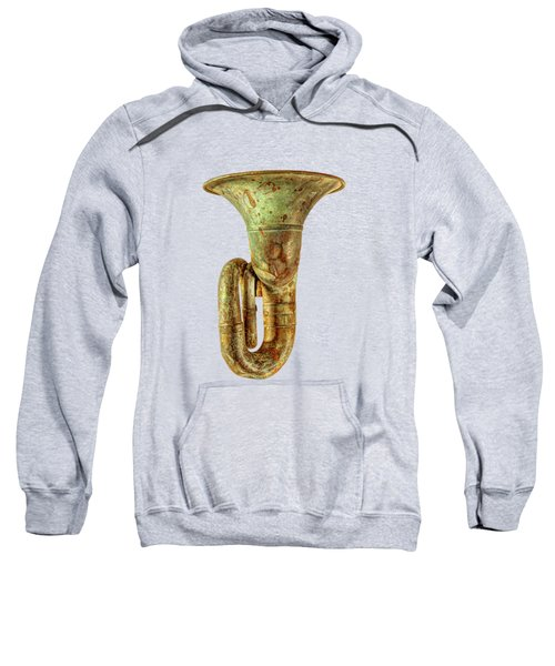 Green Horn Up On Black Sweatshirt by YoPedro