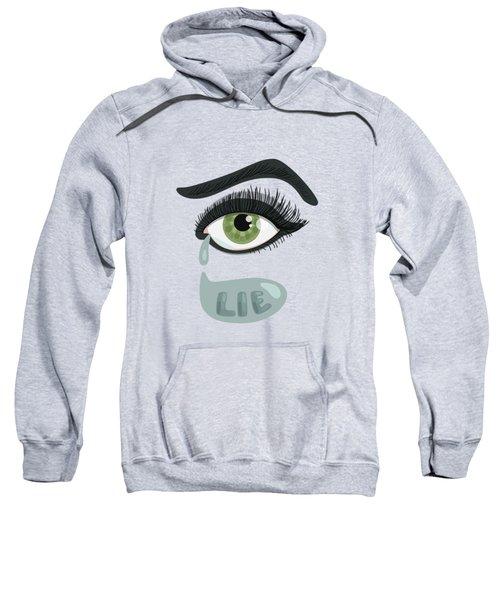 Green Lying Eye With Tears Sweatshirt