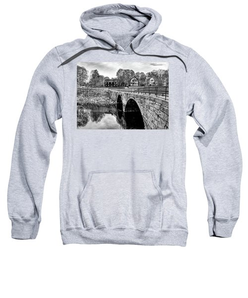 Green Street Bridge In Black And White Sweatshirt