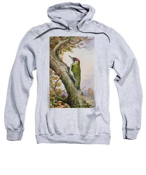 Green Woodpecker Sweatshirt by Carl Donner