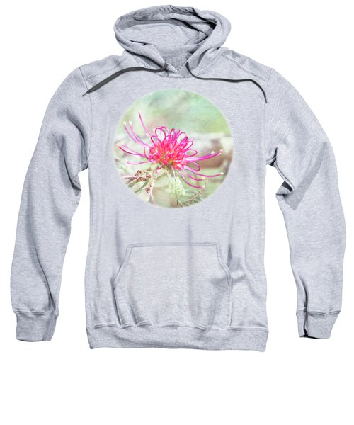 Sweatshirt featuring the photograph Grevillea by Linda Lees