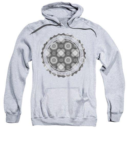 Grey Circles And Flowers Pattern Sweatshirt