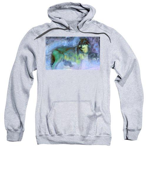 Grey Wolves In Snow Sweatshirt