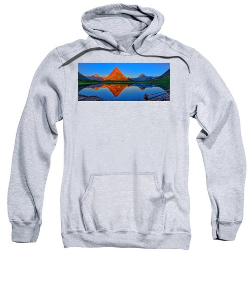 Grinnell Point Alpenglow Panorama Sweatshirt