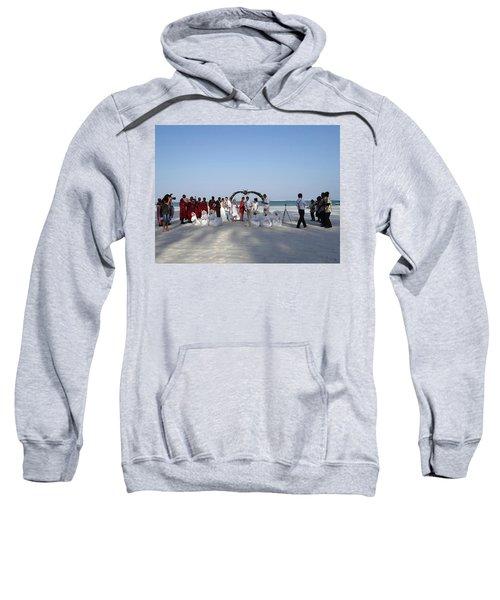 Group Wedding Photo Africa Beach Sweatshirt