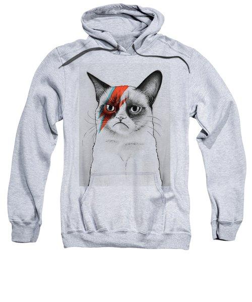 Grumpy Cat As David Bowie Sweatshirt