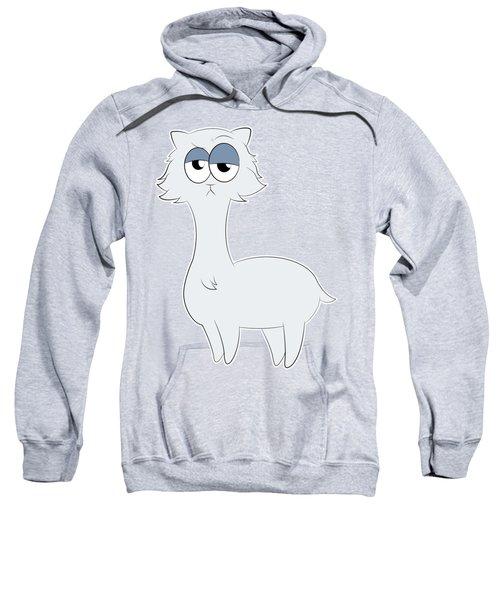 Grumpy Persian Cat Llama Sweatshirt by Catifornia Shop