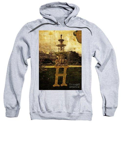 Grungy Melbourne Australia Alphabet Series Letter H Hochgurtel F Sweatshirt
