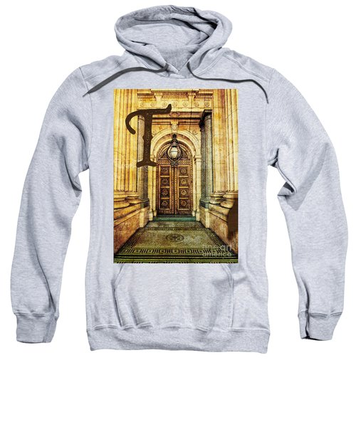 Grungy Melbourne Australia Alphabet Series Letter T Old Treasury Sweatshirt