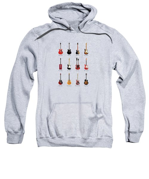 Guitar Icons No1 Sweatshirt by Mark Rogan