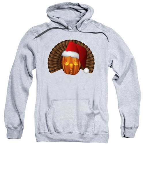 Hallowgivingmas Santa Turkey Pumpkin Sweatshirt