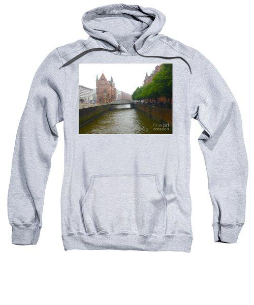 Hamburg Germany Canal Sweatshirt