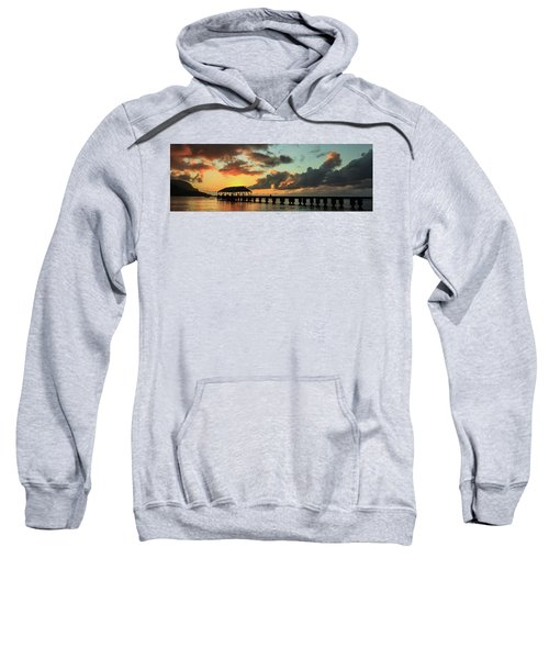 Hanalei Pier Sunset Panorama Sweatshirt