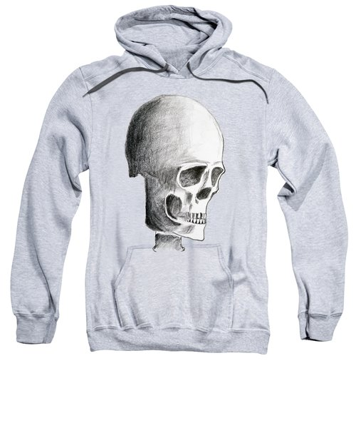 Hand Drawing Of The Skull - Pencil On Paper Sweatshirt