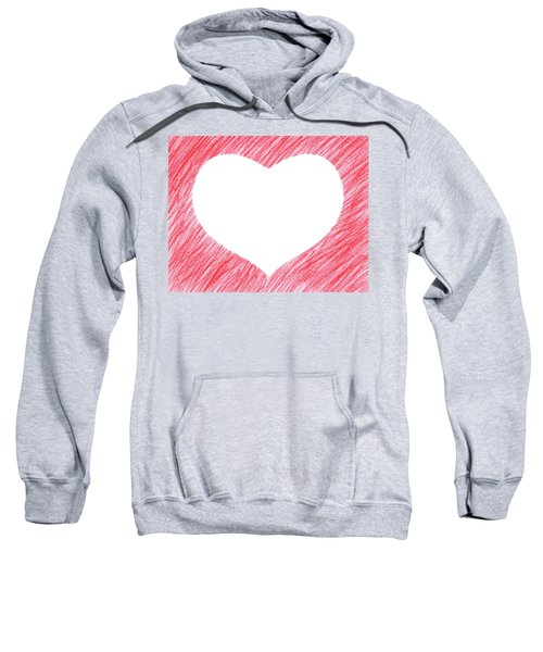 Hand-drawn Red Heart Shape Sweatshirt