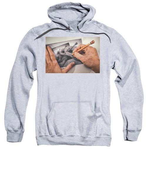Hands Drawing Hands Sweatshirt