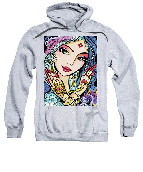 Sweatshirt featuring the painting Hands Of India by Eva Campbell