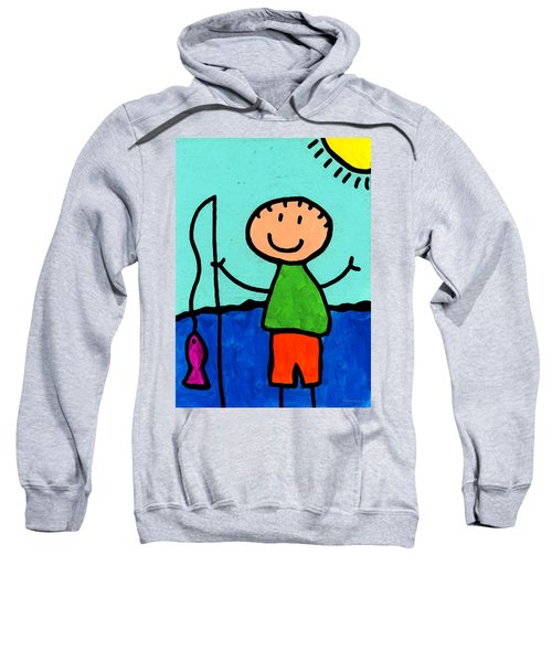 Happi Arte 2 - Boy Fish Art Sweatshirt