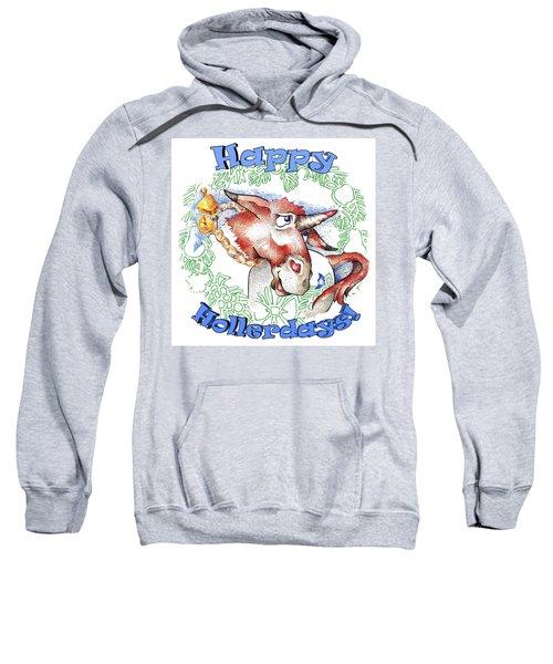 Real Fake News Happy Hollerdays Sweatshirt