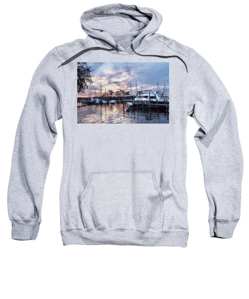 Happy Hour Sunset At Bluewater Bay Marina, Florida Sweatshirt