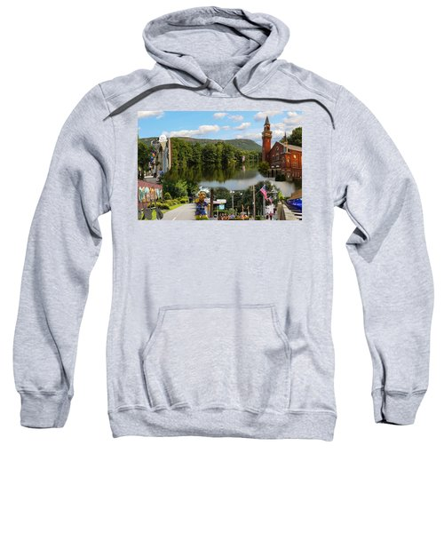 Happy In Easthampton Collage Sweatshirt