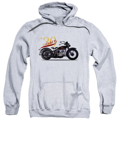 Harley-davidson Model V 1930 Sweatshirt by Mark Rogan