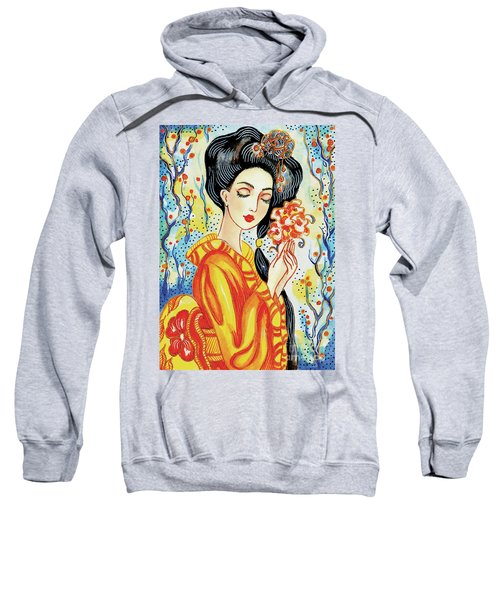 Sweatshirt featuring the painting Harmony by Eva Campbell