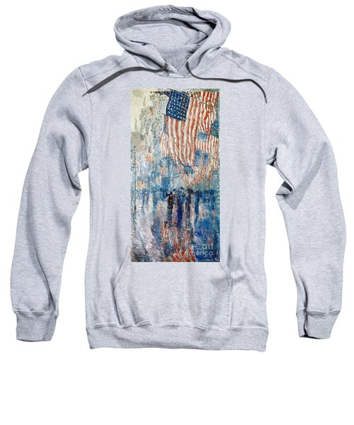 Hassam Avenue In The Rain Sweatshirt
