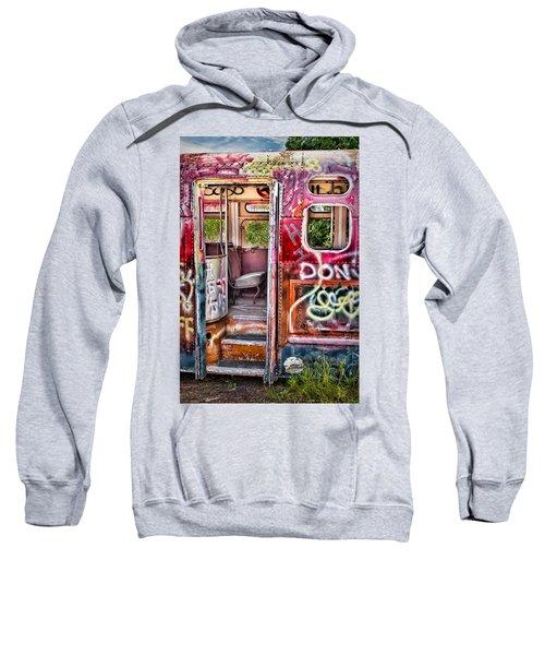 Haunted Graffiti Art Bus Sweatshirt