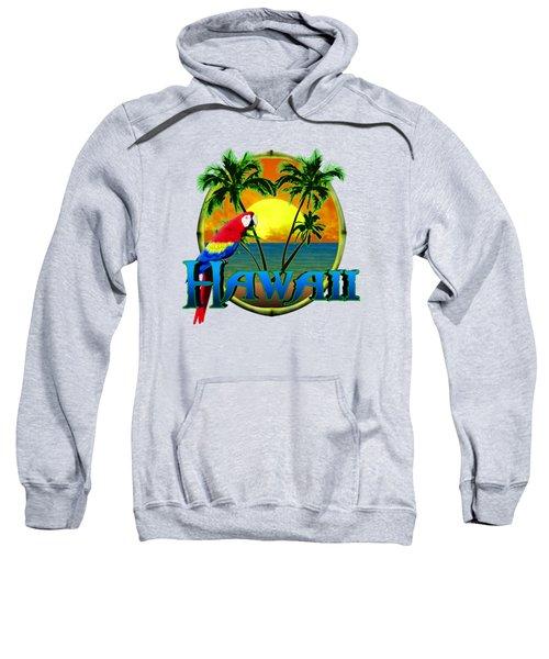Hawaii Parrot Sweatshirt by Chris MacDonald