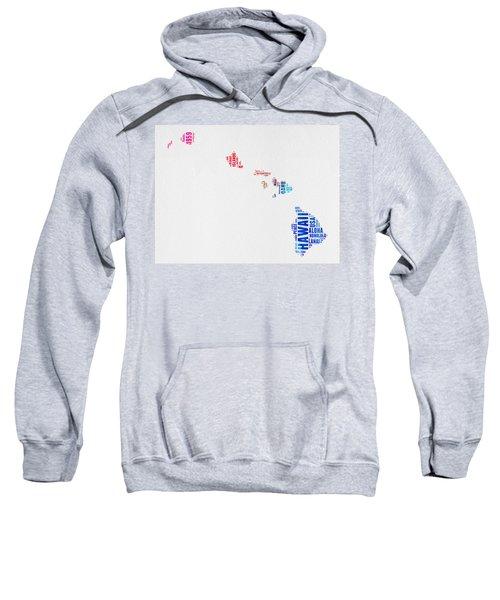 Hawaii Watercolor Word Cloud  Sweatshirt