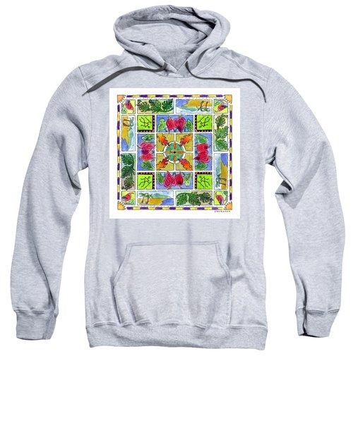 Hawaiian Mandala Iv - Anthuriums Sweatshirt