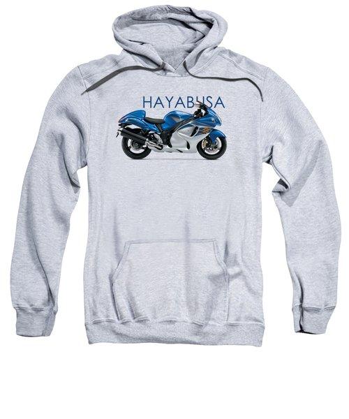 Hayabusa In Blue Sweatshirt by Mark Rogan