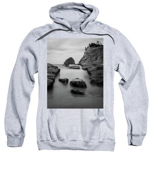 Haystack Rock In Bw Sweatshirt