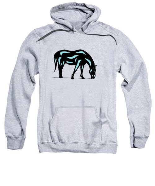 Hazel - Pop Art Horse - Black, Island Paradise Blue, Hazelnut Sweatshirt