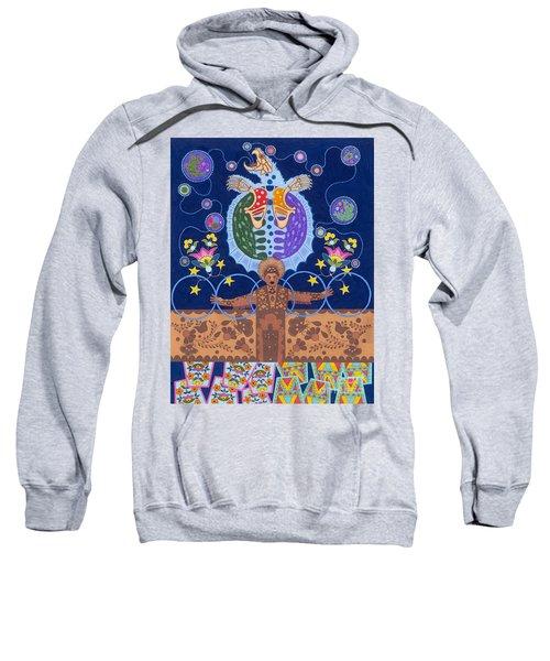 Sweatshirt featuring the painting Healing - Nanatawihowin by Chholing Taha