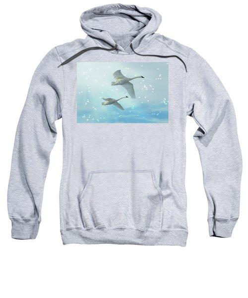 Heavenly Swan Flight Sweatshirt