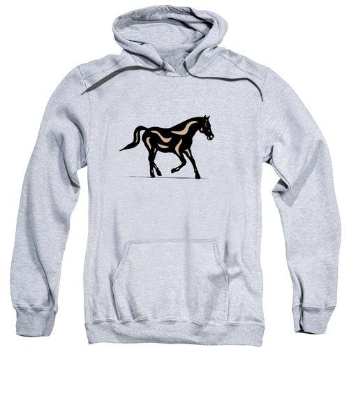 Heinrich - Pop Art Horse - Black, Hazelnut, Island Paradise Blue Sweatshirt by Manuel Sueess