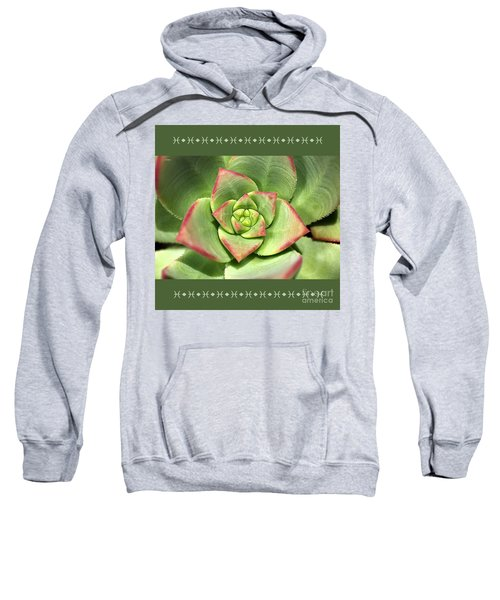Hens And Chicks Succulent And Design Sweatshirt