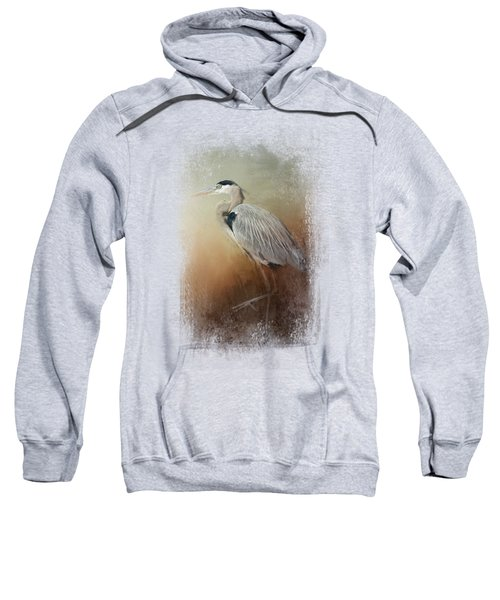 Heron At The Inlet Sweatshirt by Jai Johnson