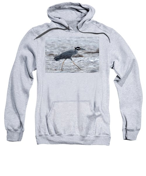 Yellow-crowned Night Heron On A Mission Sweatshirt